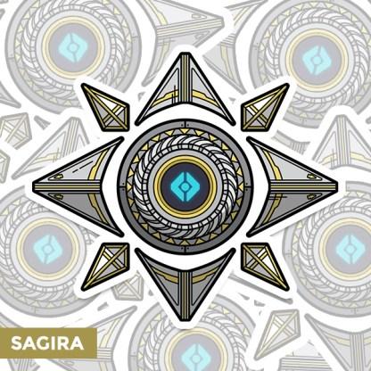 Destiny 2 Sagira ghost shell vinyl sticker designed by WildeThang