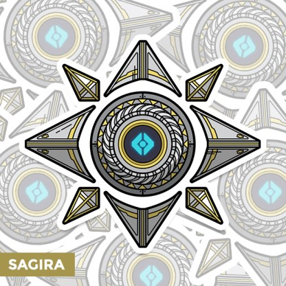 Destiny 2 Sagira ghost shell vinyl sticker designed by WildeThang