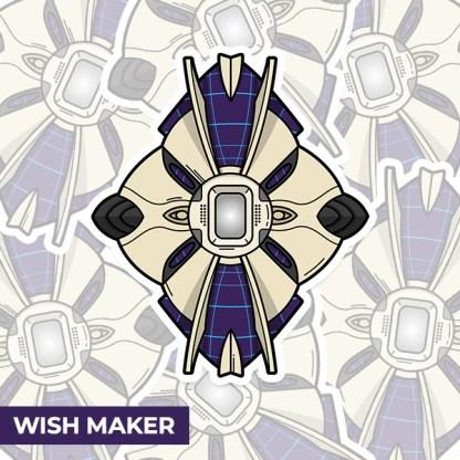 Destiny 2 Wish Maker ghost shell vinyl sticker designed by WildeThang