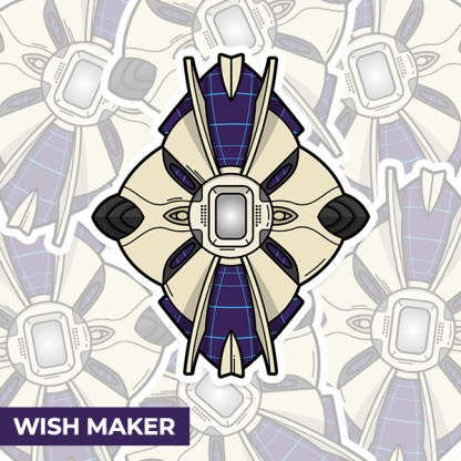 Destiny 2 Wish Maker ghost shell vinyl sticker designed by WildeThang