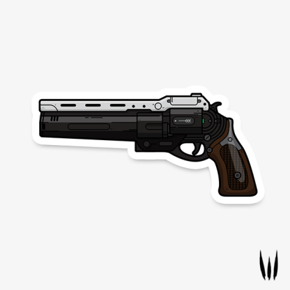 Destiny The First Curse exotic hand cannon vinyl sticker designed by WildeThang