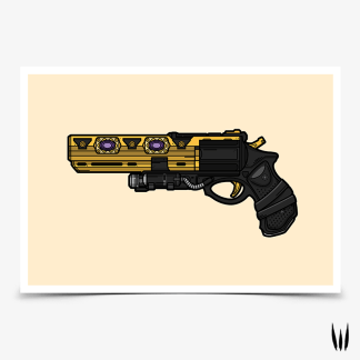 Destiny 2 Austringer hand cannon gaming poster designed by WildeThang
