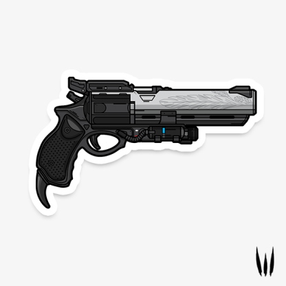 Destiny 2 Hawkmoon hand cannon vinyl sticker designed by WildeThang