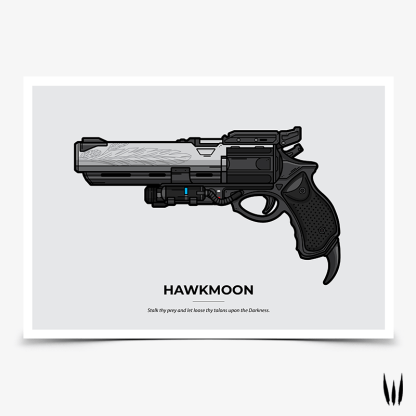 Destiny 2 Hawkmoon hand cannon gaming poster designed by WildeThang