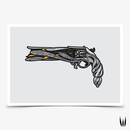 Destiny 2 Lumina exotic hand cannon gaming poster designed by WildeThang