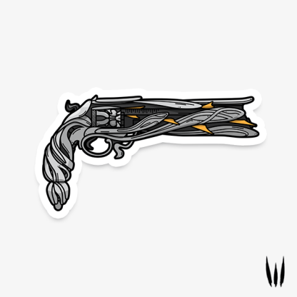 Destiny 2 Lumina hand cannon vinyl sticker designed by WildeThang