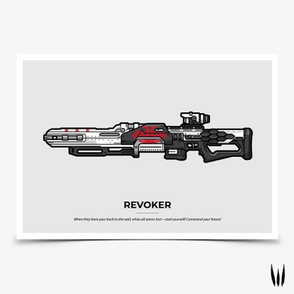 Destiny 2 Revoker snipe rifle gaming poster designed by WildeThang