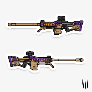 Destiny The Supremacy sniper rifle vinyl sticker designed by WildeThang