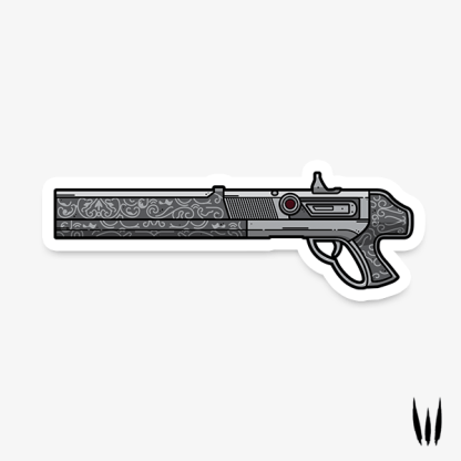 Destiny 2 Chaperone exotic shotgun vinyl sticker designed by WildeThang