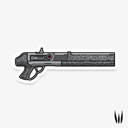 Destiny 2 Chaperone exotic shotgun vinyl sticker designed by WildeThang