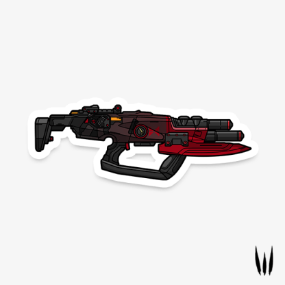 Borderlands Cutsman submachine gun gaming vinyl sticker designed by WildeThang