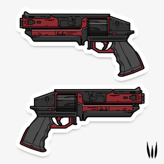Destiny 2 Kindled Orchid hand cannon vinyl sticker designed by WildeThang