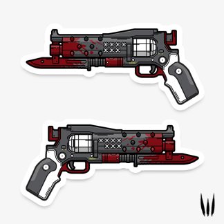 Destiny 2 Crimson exotic hand cannon vinyl sticker designed by WildeThang