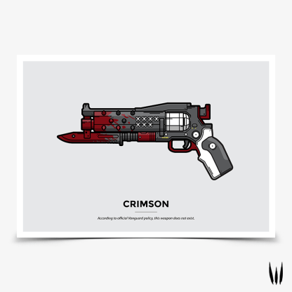 Destiny 2 Crimson exotic hand cannon gaming poster designed by WildeThang