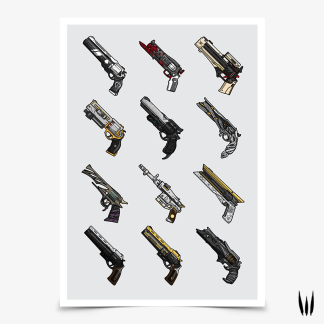Destiny Exotic Hand Cannons Collection Poster designed by WildeThang