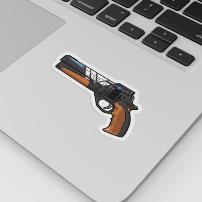 Destiny 2 service revolver hand cannon vinyl sticker designed by WildeThang