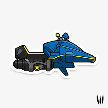 Destiny 2 Micro Mini Sparrow Vinyl Sticker designed by WildeThang