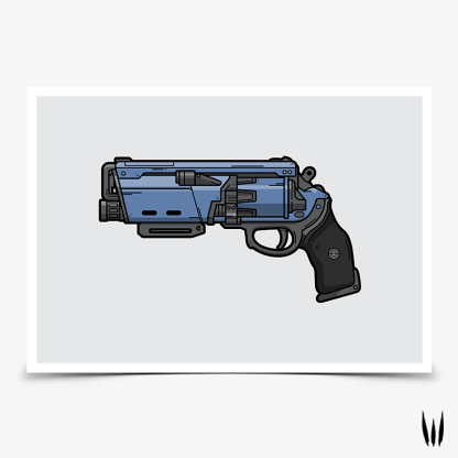 Destiny 2 Duke Mk.44 hand cannon gaming poster designed by WildeThang