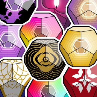 Destiny 2 Engram vinyl stickers designed by WildeThang