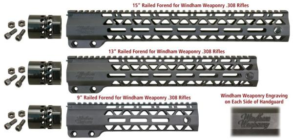 Windham Weaponry Free-Floating Mid-Length Railed Handguards for WW .308 Rifles - 9 / 13 / 15 inch lengths