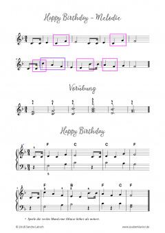 Klaviernoten Happy Birthday Leichte Version Pdf Noten Online Kaufen