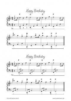 Klaviernoten Happy Birthday Mittelleichte Version Pdf Noten Online Kaufen
