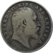 1904 2 Two Annas Edward VII King Emperor Calcutta Mint