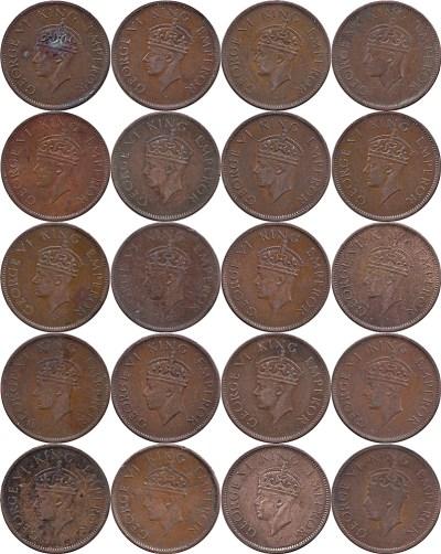 1941 1/4 One Quarter Anna George VI King & Emperor Calcutta Mint