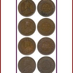 George V King Emperor 1917 12 Half Pice Calcutta Mint