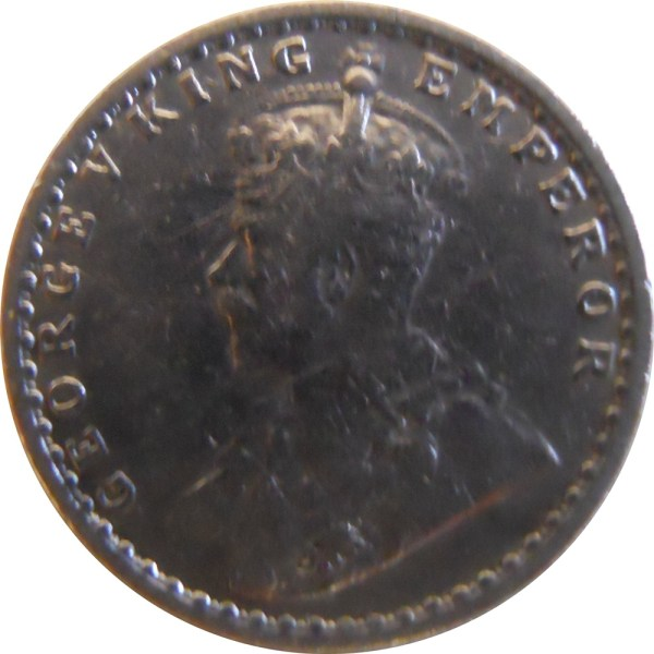 1915 2 Two Annas George V King Emperor - Bombay Mint - RARE