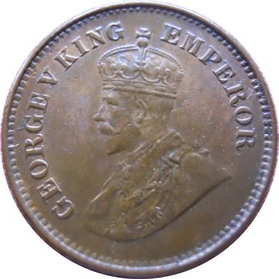 1935 1/2 Half Pice George V King Emperor - Calcutta Mint - RARE