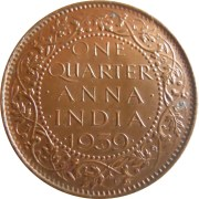 1939 1/4 One Quarter Anna George VI King & Emperor Bombay Mint - Worth Buy