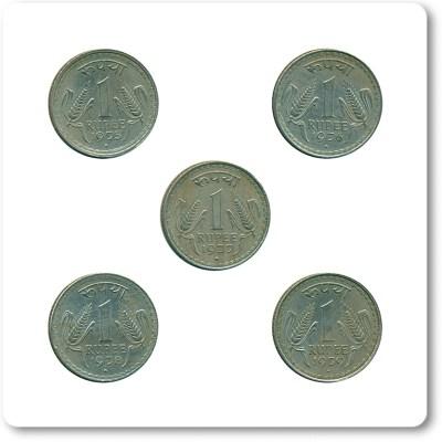 1975 1976 1977 1978 1979 1 One Rupee Republic India Bombay Mint