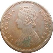 queen-victoria-one-twelve-anna-1884-o