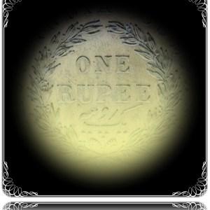 1840 1 Rupee Victoria Queen Continuous ENGLISH HEAD 11 O CLOCK DIE ROTATION