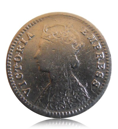 1893 2 Annas Silver Coin Queen Victoria Empress -Worth Collecting - Best Buy