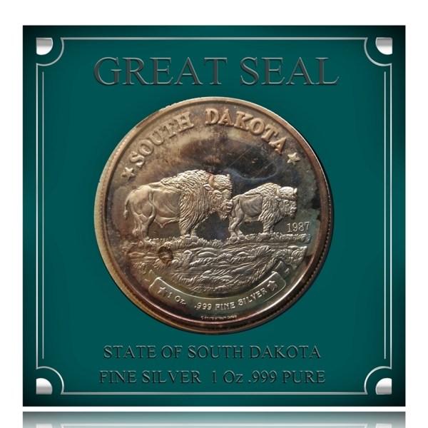 1897 1 Oz Fine Sillver Coin - Great Seal -South Dakota