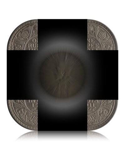 1911 1 Rupee Silver Coin British India King George V Calcutta mint - RARE