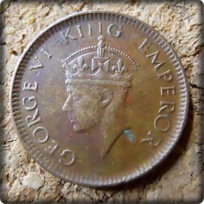1939 1/12 Twelve Anna British India King George VI Bombay Mint - Best Buy