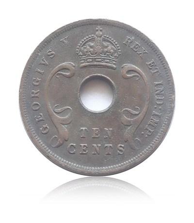 1922 10 cents Georgivs V Rex East Africa Coin - RARE