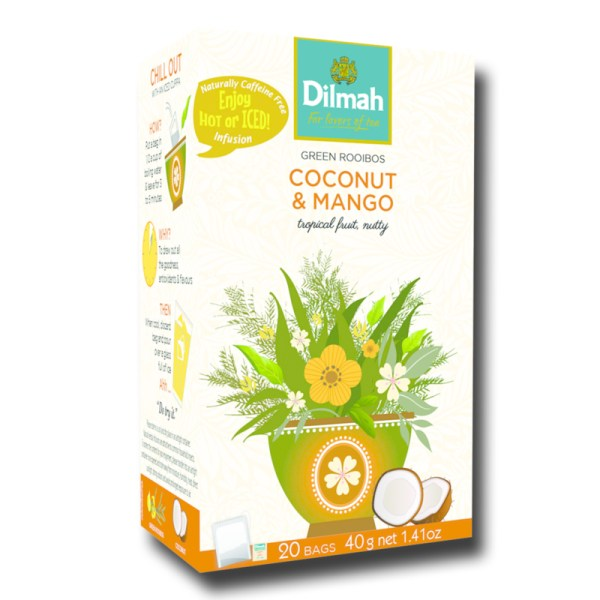 Dilmah Green Rooibos Coconut and mango