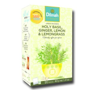 Dilmah Green Rooibos Holy Basil Ginger Lemon and lemon grass