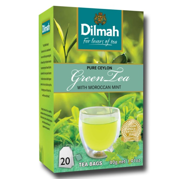 Dilmah Green Tea with Moroccan mint