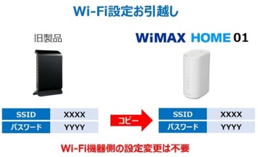 HOME 01 wifi引っ越し機能