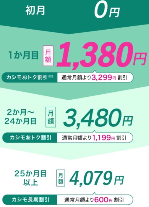 カシモWiMAX最安級プラン