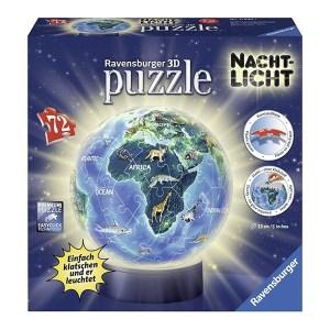 3D Night Light Puzzleball Earth 72pcs (11844) Ravensburger (εως 36 Δόσεις)