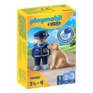 Playmobil 123: Police Officer with Dog (εως 36 δόσεις)
