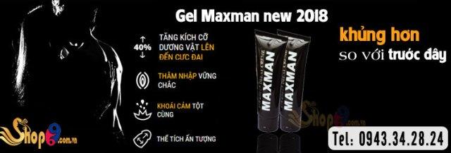 gel max tăng kích thước dương vật tự nhiên