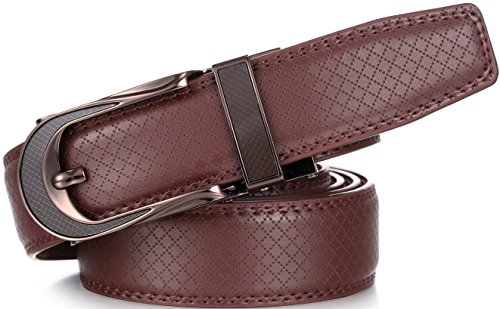 Men Boys Leather Waistband Belts Automatic Buckle Waist Strap Belts Lovers Gifts