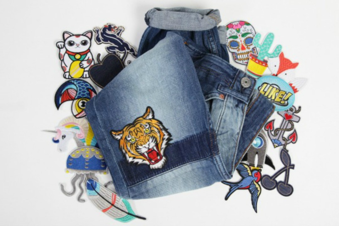 Bij Kiki Patch Collection on denim